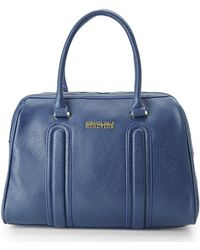 Kenneth Cole Reaction Navy Dimensional Satchel blue - Lyst