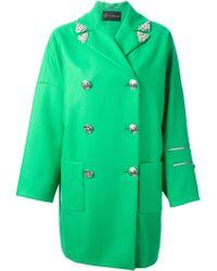 Versace Green Medusa Coat - Lyst