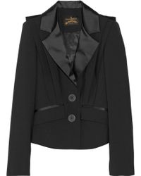 Vivienne Westwood Anglomania Card Satin-trimmed Stretch-crepe Blazer - Lyst