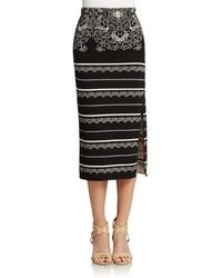 Free People Graphic Print Pencil Skirt - Lyst