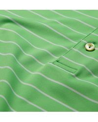 Peter Millar Quarter Striped Jersey Golf Polo Shirt - Lyst
