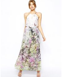 Oasis Butterfly Maxi Dress - Lyst