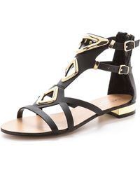 Carvela Kurt Geiger Kupid Flat Sandals Black - Lyst