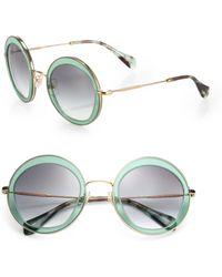 Miu Miu 52Mm Round Sunglasses - Lyst