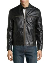 Marc New York By Andrew Marc Ryder Doublezip Patched Leather Jacket - Lyst