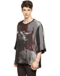 Dolce & Gabbana Layered Silk Organza And Cotton T-Shirt - Lyst