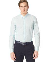 Calvin Klein Slim Fit Textured Woven Sport Shirt - Lyst