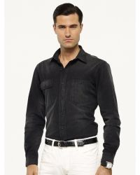 Ralph Lauren Black Label Denim Darby Workshirt - Lyst