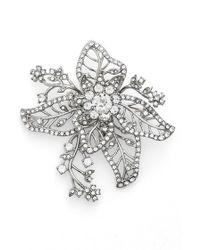 Marchesa | Crystal Flower Brooch | Lyst