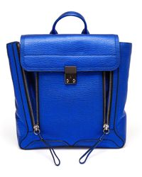 3.1 Phillip Lim Pashli Metallic Grained Leather Backpack - Lyst