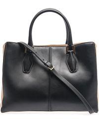 Tod's Dcube Bicolour Leather Medium Tote - Lyst