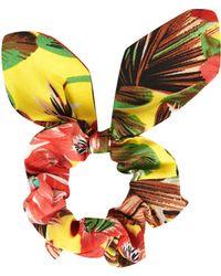 TOPSHOP - Tropical Print Scrunchie - Lyst