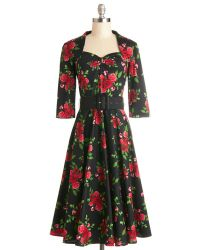 Hell Bunny London (pop Soda) Roses At Your Feet Dress - Lyst