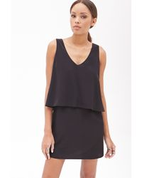Forever 21 Woven Flounce Dress - Lyst