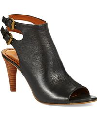 Nine West Miraculous Peep Toe Boots - Lyst