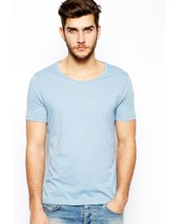 Asos Tshirt with Scoop Neck - Lyst
