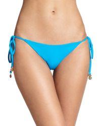 Shoshanna String Bikini Bottom blue - Lyst
