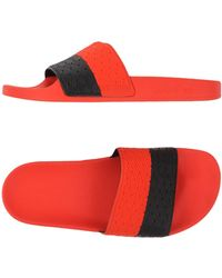 Adidas By Raf Simons | Adilette Color-Blocked Rubber Slides  | Lyst