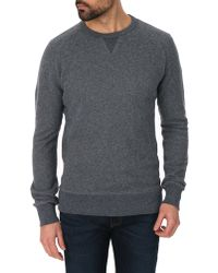 Levi's Blue Crew-Neck Sweatshirt - Lyst