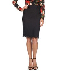 Cece by Cynthia Steffe - Scallop Lace Pencil Skirt - Lyst