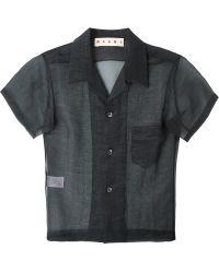 Marni   Sheer Shortsleeved Shirt   Lyst