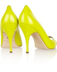 Brian Atwood Carla Patentleather Pumps - Lyst