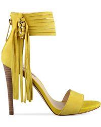 Guess Women'S Carlene Fringe Ankle Strap Dress Sandals - Lyst