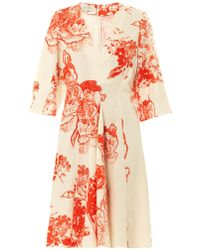 Stella McCartney Celia Patchworkprint Silk Dress - Lyst