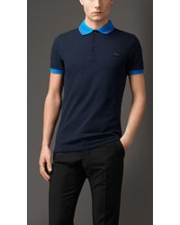 Burberry Contrast-Tipping Polo Shirt - Lyst