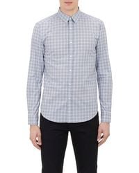 Theory Blue Plaid Shirt - Lyst