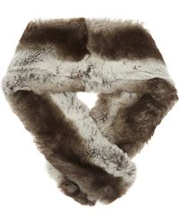 Imposter - Mid Grey Faux Fur Pull Through Scarf - Lyst