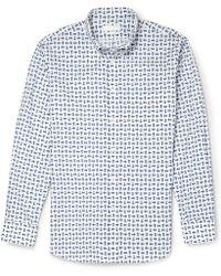 Alexander McQueen Slim-fit Printed Cotton-poplin Shirt - Lyst