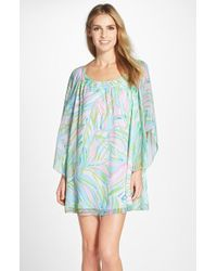 Lilly Pulitzer - 'marietta' Print Silk Caftan Dress - Lyst