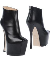 Giuseppe Zanotti Black Ankle Boots - Lyst
