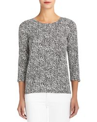 Jones New York Animal Print Tee - Lyst