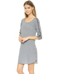 Maison Scotch Print Dress with Sleeve Detail  Multi - Lyst