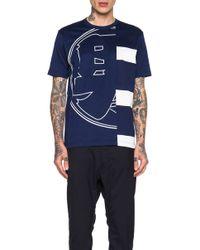 Junya Watanabe Men'S Silket Cotton Jersey Graphic Tee - Lyst
