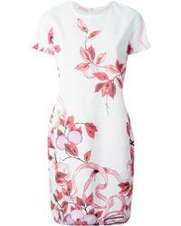 Giamba Flower Print Dress pink - Lyst
