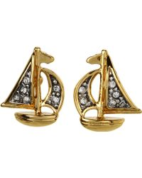 Juicy Couture Sailboat Stud Earrings - Lyst