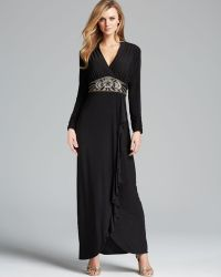 Sue Wong - Gown V Neck Beaded Empire Waist - Lyst
