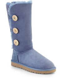 Ugg Bailey Button Knee-High Shearling Boots blue - Lyst