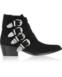 Toga Pulla - Buckled Suede Ankle Boots - Lyst
