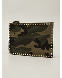 Valentino Large Rockstud Pouch - Lyst