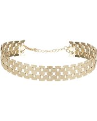 Topshop Metal Scale Choker Gold - Lyst