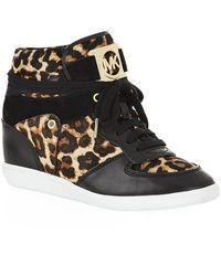 MICHAEL Michael Kors Nikko Leather High Top Sneaker - Lyst