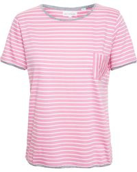 Chinti & Parker Striped T-Shirt pink - Lyst