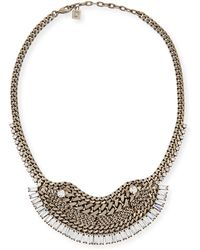 Dannijo Lilith Crystal Chain Necklace - Lyst
