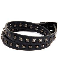 Valentino Studded Leather Wrap Bracelet - Lyst
