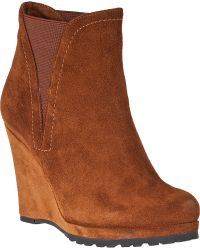 Vaneli For Jildor Jamilla Wedge Boot Satel Suede - Lyst