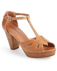 Jeffrey Campbell 'Camelot' Leather T-Strap Platform Sandal - Lyst